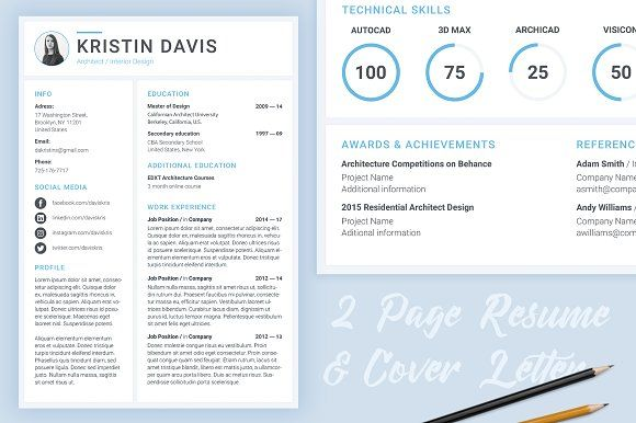 Modern Resume Template by IO Design on @mywpthemes_xyz Best - project architect sample resume