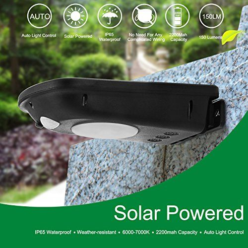 Mejores 41 imgenes de home security landscape lighting en led solar light levin 12 leds 160 lumens motion sensor light outdoor solar energy powered aloadofball Gallery