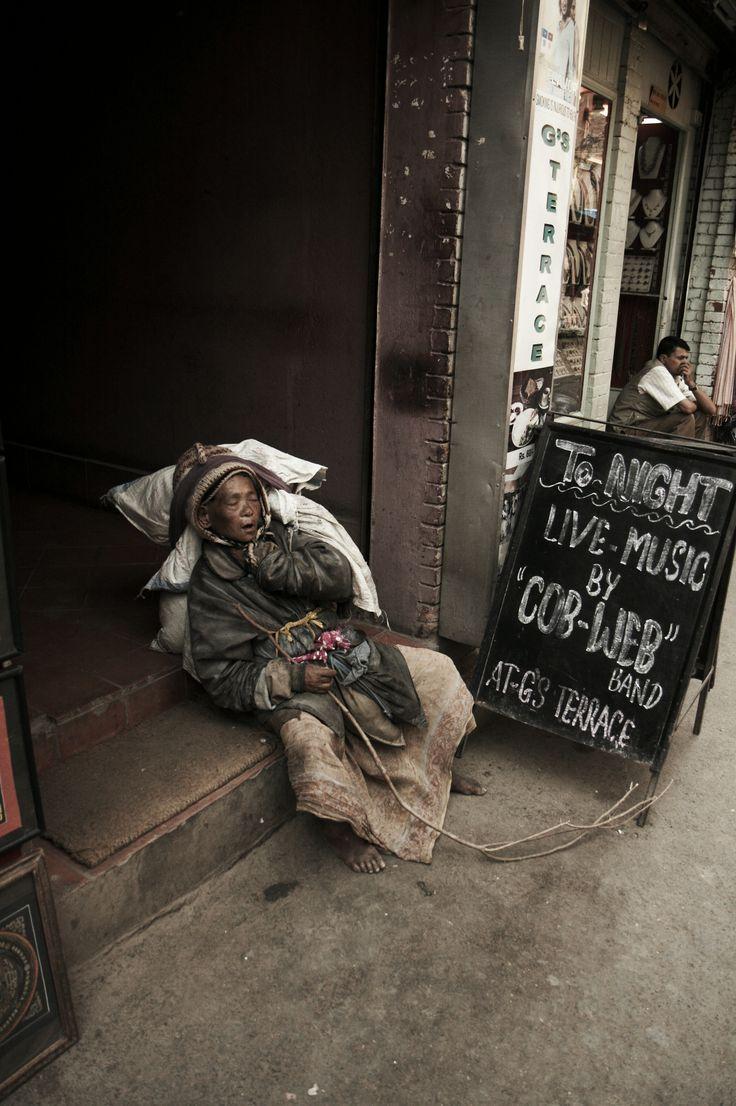 Sad reality #Kathmandu Streets Nepal #Women #travel