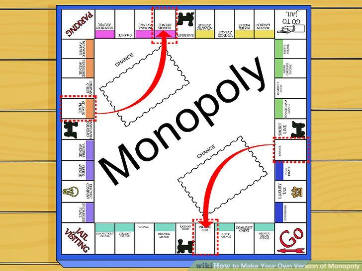 Make Your Own Monopoly Game: Board, Money, and Cards   Making your own Monopoly board is easy! The first step is printing out the above image onto a larger board. You can also make your own board using free drawing software online, like Google Draw. You will also need to make:  Property cards (template available here). Money (below) Game...