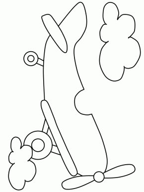 Transportation Page 4: Airplane4 Transportation Coloring Pages ...