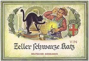 Zeller Schwarze Katz | Black Cat Wine label