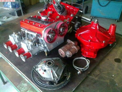 Twin cam head and components ready for A-series