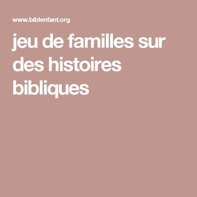 jeu de familles sur des histoires bibliques