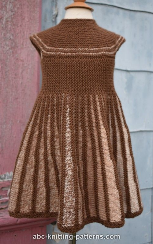 ABC Knitting Patterns - Girl's Sideways Sun Dress