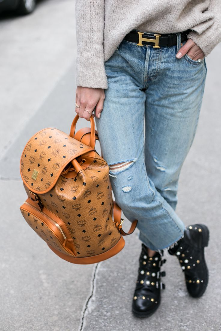 MCM Heritage Backpack, Levis 501 CT Jeans, Kurt Geiger Boots