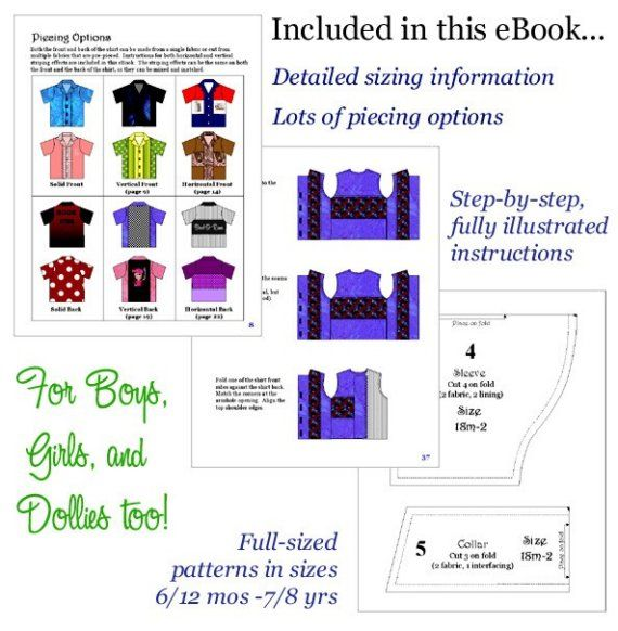 Hawaiian shirt, Bowling Shirt, Boutique Pattern PDF E-Book, by the Scientific Seamstress. $9.95, via Etsy.