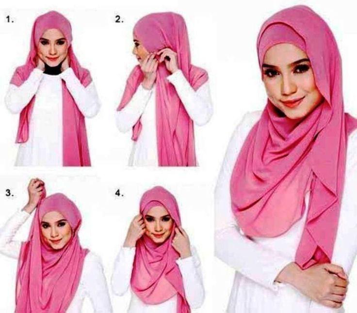Tutorial Cara Memakai Hijab Pasmina Simple dan Elegan
