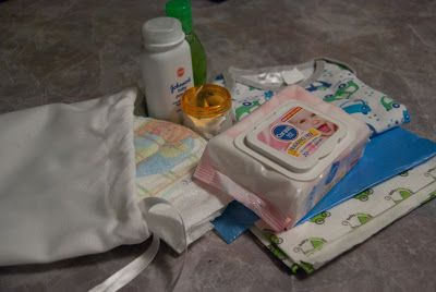 Baby-To-Go Bags - everything you need for a nappy change on the go! Great for new mum or baby shower gift