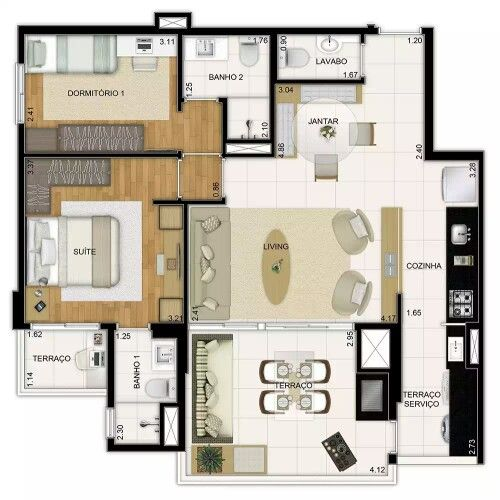 835 best Maison 3D images on Pinterest Floor plans, House floor