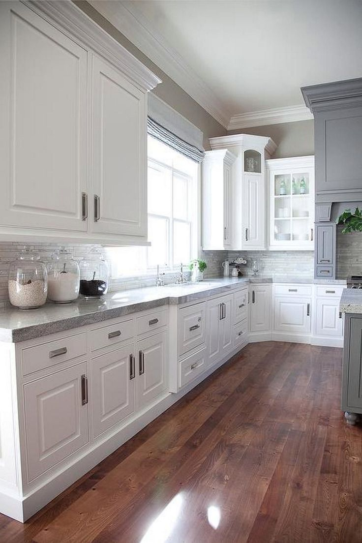 2019 Pretty Kitchens with White Cabinets - Kitchen Cabinet Lighting Ideas Check more at http://www.planetgreenspot.com/50-pretty-kitchens-with-white-cabinets-remodeling-ideas-for-kitchens/