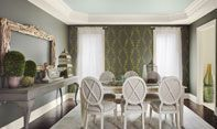 Link to Benjamin Moore Earth & Sky 2012 Color Trends Palette    (mix of olives, grays, and warm blues)