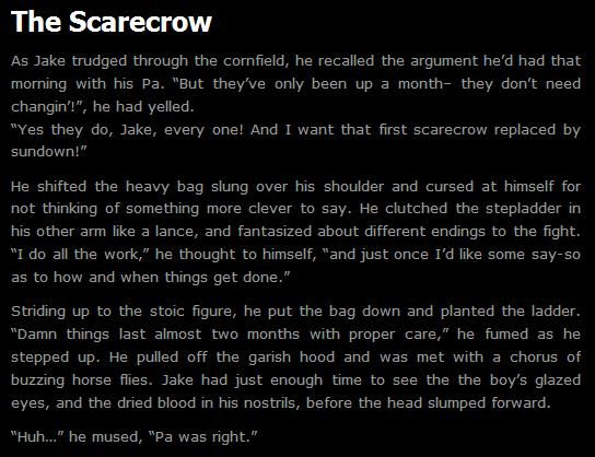 Creepypasta writing | Image - The Scarecrow.jpg - Creepypasta Wiki