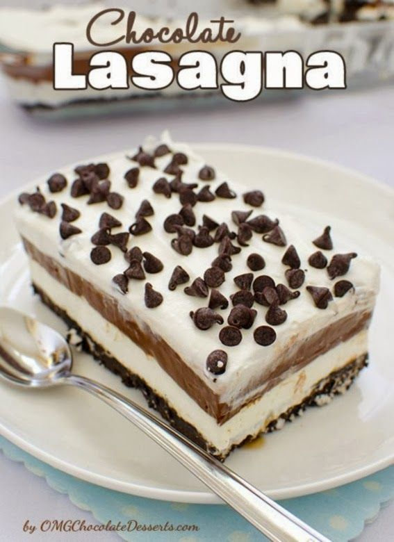 Chocolate Lasagna (Love that name!!). Click on the link below the picture that says Full Recipe.