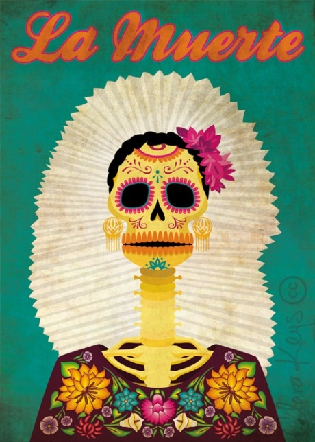 Frida Kahlo Inspired Day of the Dead Art | Dia de los Muertos | Day of the Dead