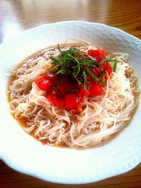 今日のお昼ご飯です 作ってみました♡♡ - 0件のもぐもぐ - トマトツナそうめん by yumaaaa