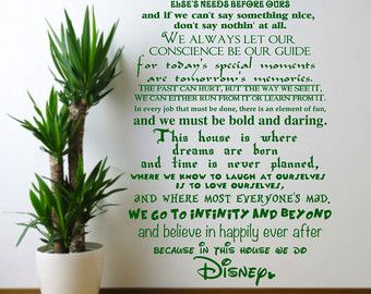 In this house we do Disney Childrens Bedroom by TheStickerStop