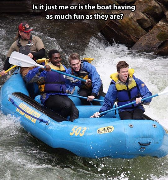 Haha! #raftinglove