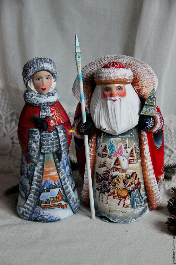 Купить Дед Мороз и Снегурочка большие 2 - снегурочка, дед мороз, Дед Мороз и…