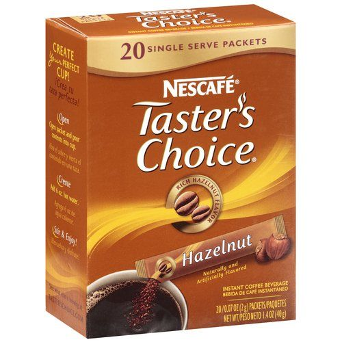 | Taster's Choice Hazelnut Instant Coffee Single Serve Packets, 20ct
