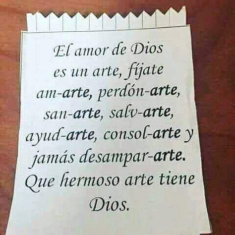 El amor de Dios es un arte…