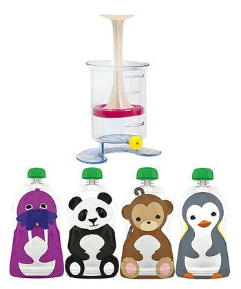 Reusable Food Pouch Fill 'n' Squeeze - Set of Six | Daily deals for moms, babies and kids