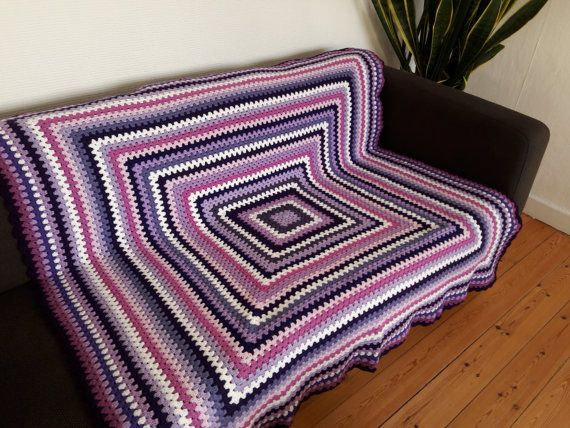 Purple Throw Blanket Purple Crochet Blanket by PhoenixSmiles