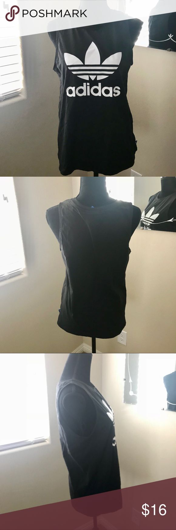 Adidas Tank Top Women's Size Small - Black Lightly Used, still in overall good condition, may show slight signs of wear.  ✅Open To Reasonable Offers  💢No Trades  All Items Come From A  Smoke & Pet Free Home‼️  Please refer to pics📷  Any Questions Just Ask 😁  ⚠️Please check out my other listings  THANK YOU⚠️ adidas Tops Tank Tops