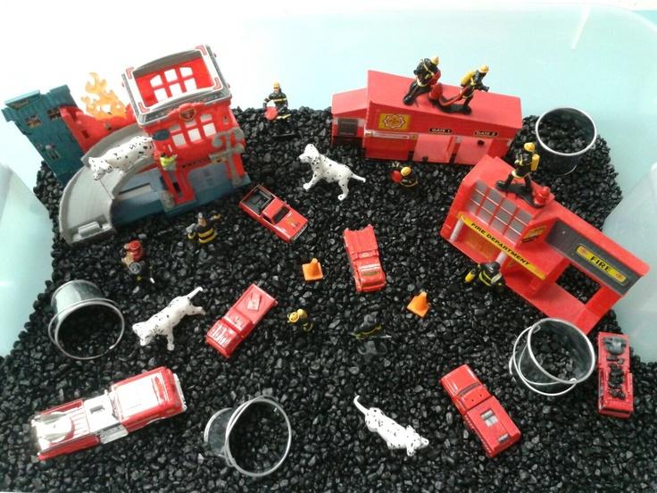 Fireman Sensory Bin