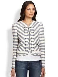 Image result for rebecca minkoff ocean stripe jacket