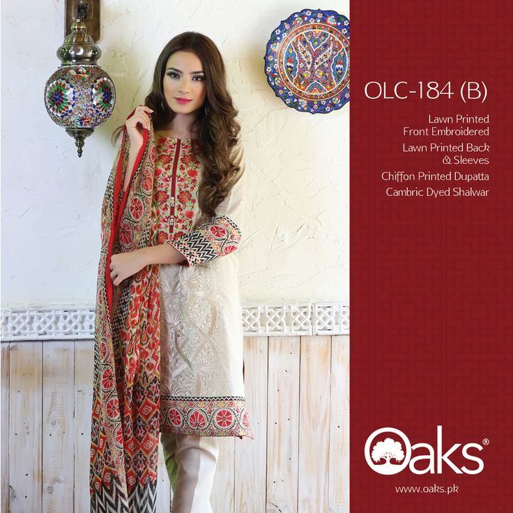 Lawn Suit with Chiffon Dupatta.  3 Piece: OLC-184 (B) | RS. 3,590 |   2 Piece: OLC2P-1203 (B) | RS. 3,190 |