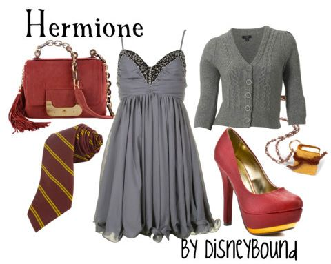 Not sure about the sky high heels, but this is a cute shout out to Hermione.Fashion, Halloween Costumes, Inspiration Outfit, Hermione Granger, Harry Potter, Disney Bound, Disneybound, The Dresses, Geek Chic