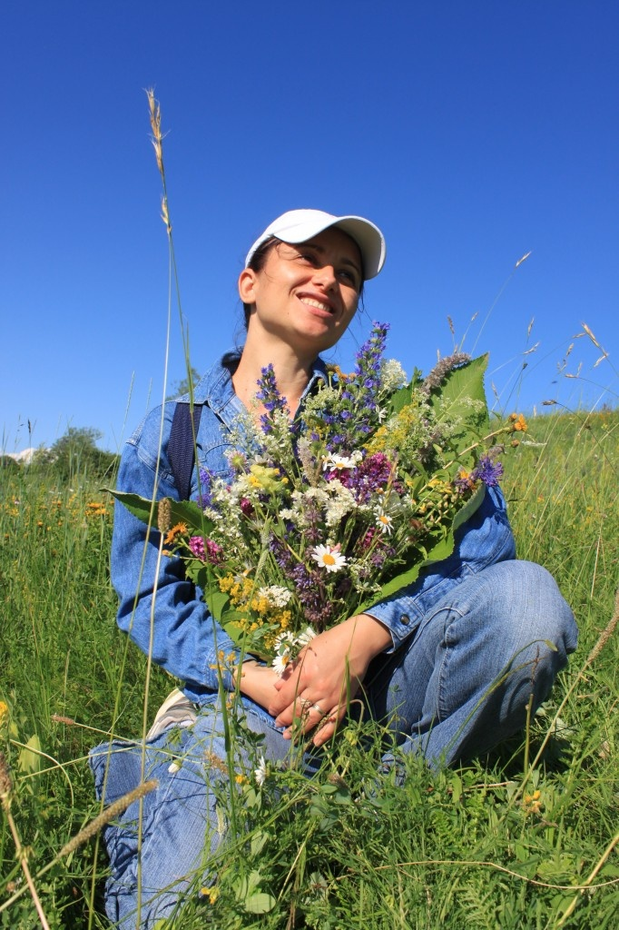 Woman with wildflower bouquet - Public Domain Photos, Free Images for Commercial Use