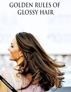 BEST TIPS FOR GLOSSY HAIR
