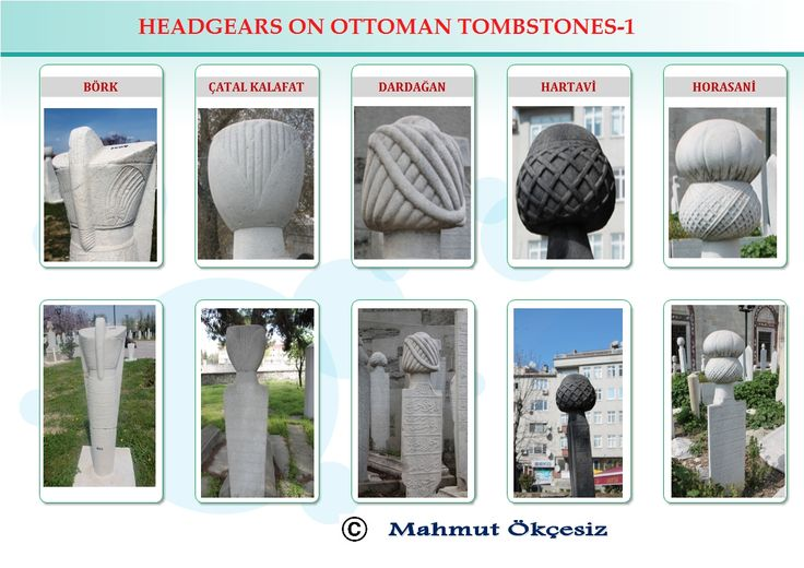 Occupations of Ottoman tombstones, group one