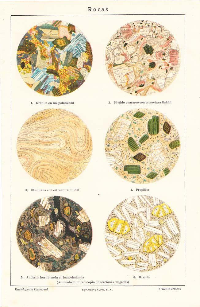 1920s Rocks Under a Microscope Vintage Print