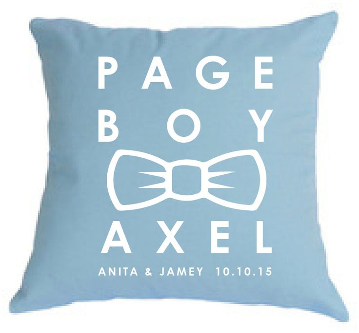 Personalised PAGE BOY bow tie pillow, gorgeous gift for asking your bridal party, for keepsake or to carry in the church. by louiseexclusivelyyou on Etsy