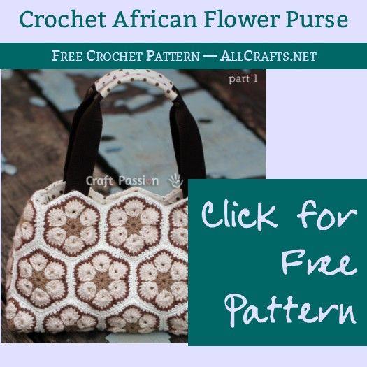 Crochet African Flower Purse – Free Pattern