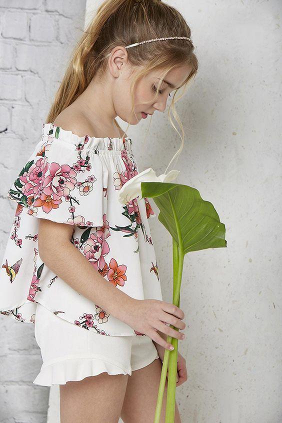 Moda primavera verano 2018 blusas para niñas. Vestidos Niña Verano 190703d61b65