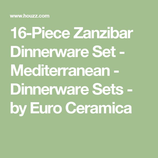 16-Piece Zanzibar Dinnerware Set - Mediterranean - Dinnerware Sets - by Euro Ceramica