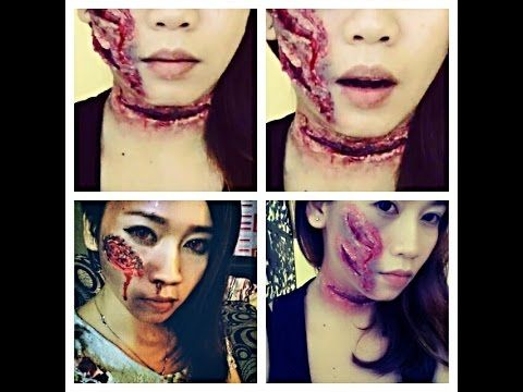The Walking Dead zombie makeup tutorial easy and cheap