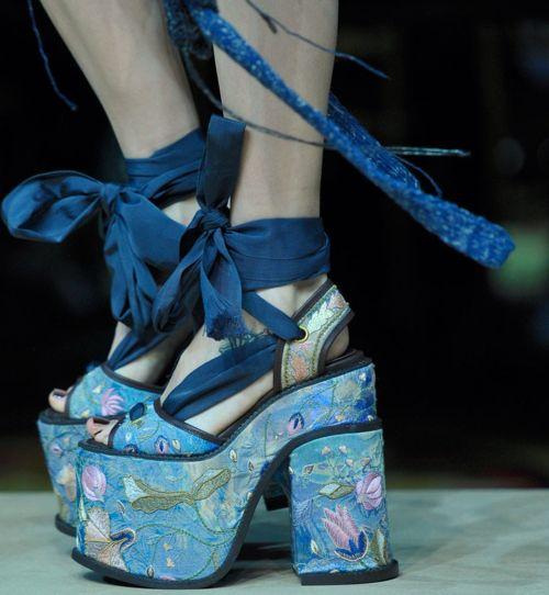 Vivienne Westwood s/s 2012 take on groupie platform heel.