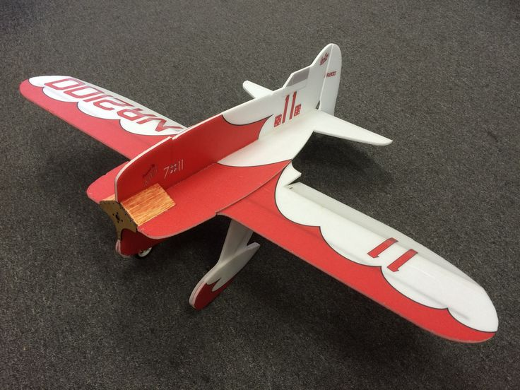 Lee Ulinger Models foam, radio controlled Gee Bee kit. Cut with a high-quality…