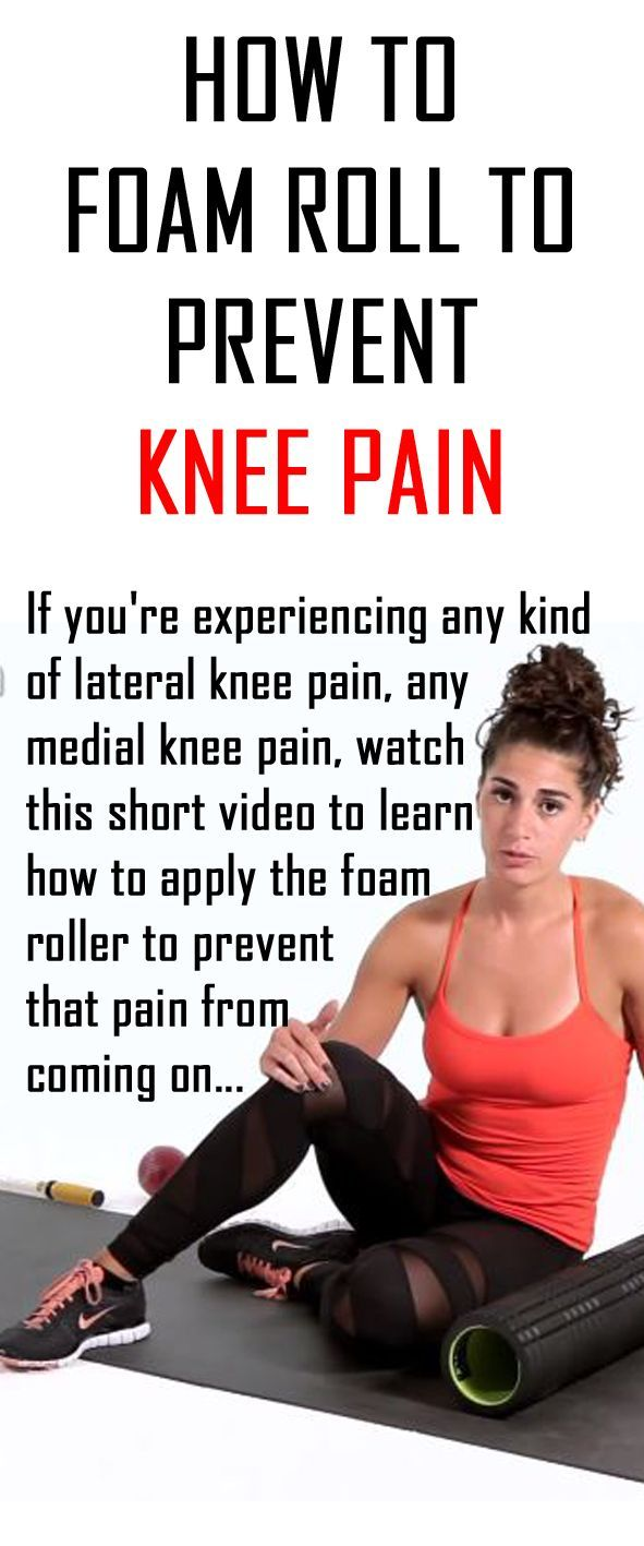 How to prevent knee pain video with foam roller??? Don't do this...instead strengthen your knees with squats and lunges!