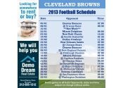 5x5 in One Team Cleveland Browns Football Schedule