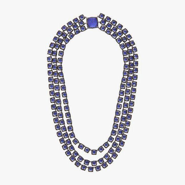 Larkspur & Hawk blue bella three-strand rivière necklace, $6,700, lyst.com