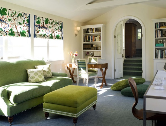 That's going green for you! Love those #window #treatments.