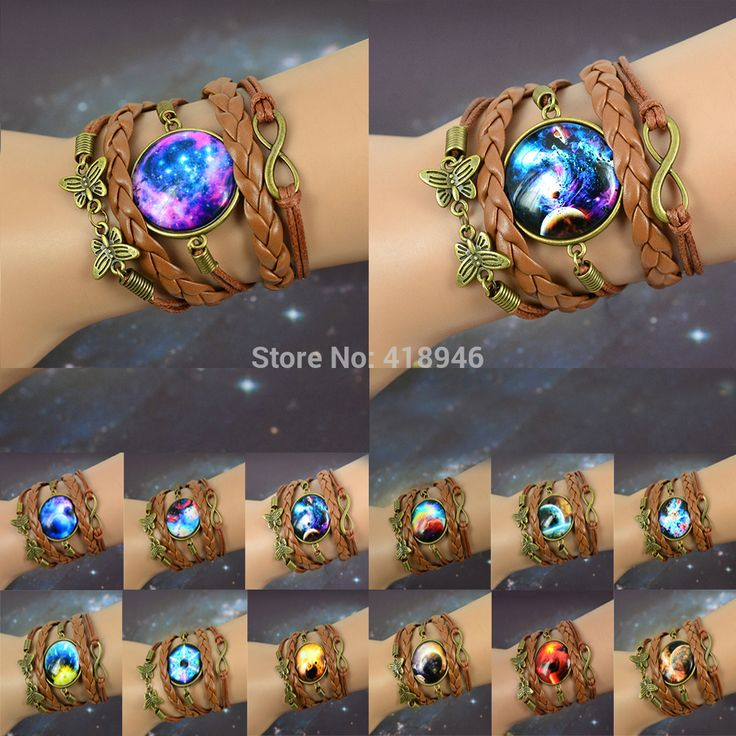 Cheap gifts brazil, Buy Quality gifts for college boys directly from China pendant gift box Suppliers: NEW Multilayer Braided Bracelet Bangles Milky Way Galaxy Cabochon Infinity Charms Wristband Cuff Leather Bracelet For Wo