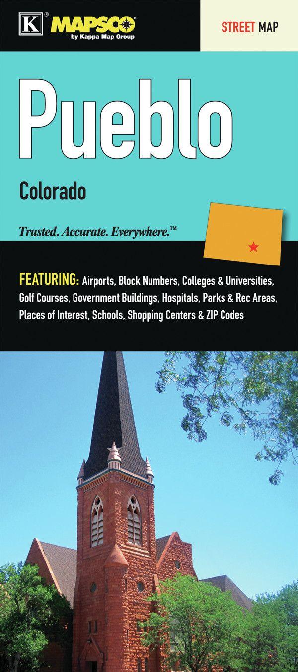 Pueblo Colorado Fold Map (Set of 2)
