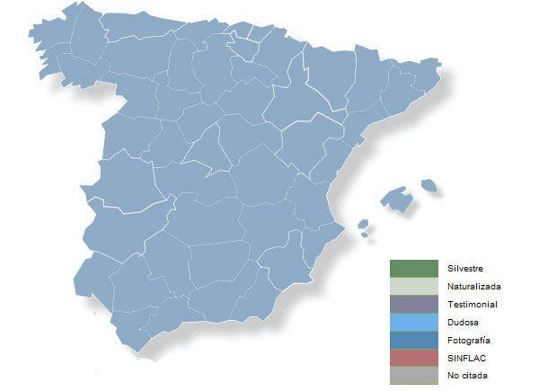 Mapa de distribución de